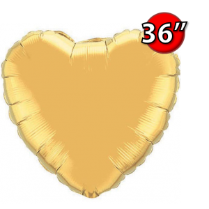 "Foil Heart 36"" 心形 Metallic Gold , QF36HP78451 <Helium #D>"