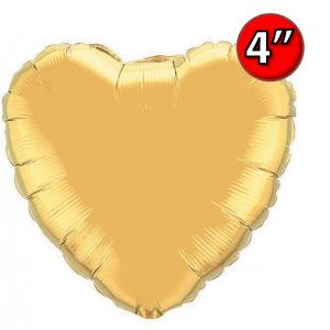"Foil Heart  4"" 心形 Metallic Gold , QF04HP36336 <Air #A>"