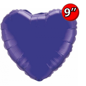 "Foil Heart  9"" 心形 Quartz Purple , *QF09HP24155 <Air #A>"