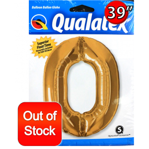 "Number Metallic Gold 數字【0】39"" , *QF39NP30469(PK)"
