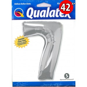 "Number Silver 數字【7】42"" , QF42NP30425 <Helium #C>"