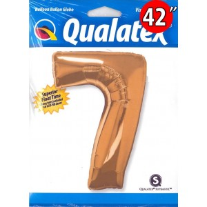 "Number Metallic Gold 數字【7】42"" , QF42NP30497 <Helium #C>"