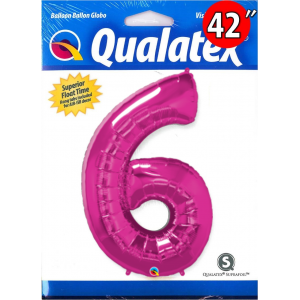 "Number Magenta 數字【6】42"" , QF42NP30575"