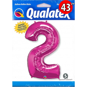 "Number Magenta 數字【2】43"" , QF43NP30559"