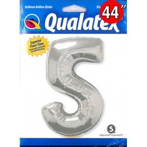 "Number Silver 數字【5】44"" , *QF44NP30417 <Helium #C>"
