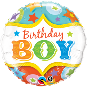 "18"" Foil Birthday Day Boy Circus Stars (pkgd.) , QF18RI25233"