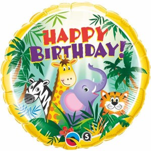"18"" Foil Birthday Jungle Friends (pkgd.) , *QF18RI31014"