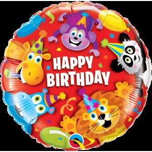"18"" Foil Birthday Party Animals (pkgd.) , QF18RI14182(PK)"