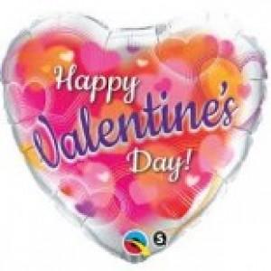 "18"" Foil Valentine's Hearts Aglow (pkgd.) , QF18HI11257(PK)"