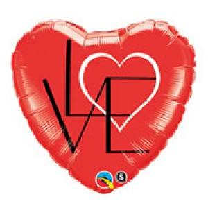 "18"" Foil L(HEART)VE Red , QF18HI46077"