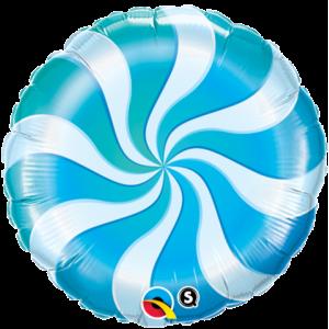 """18"""" Foil Candy Swirl - Blue , *QF18RI50980"""