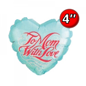 "4"" Foil To Mom with Love Script / Air-fill , #QF04HI23454"