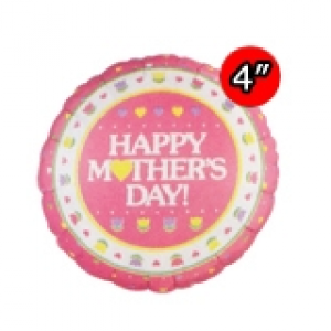 "4"" Foil Mother's Day (Silver Back) , #QF04RI24318"