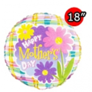 """18"""" Foil Mother's Day Daisies , #QF18RI71423"""