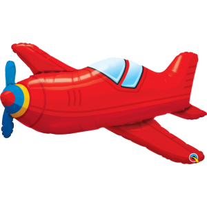 "36"" Foil Red Vintage Airplane (non-pkgd.), QF36SI57808 (0) <10 個/包>"