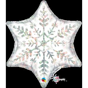 "22"" Foil Dazzling Snowflake (pkgd.) , *QF22SI20263"