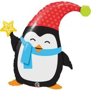 "35"" Foil Popular Elfin Penguin (pkgd.) , QF35SI44232"
