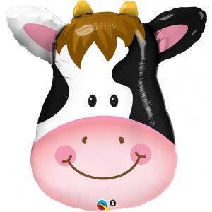 "32"" Foil Contented Cow - (pkgd.) , QF32SI16455"