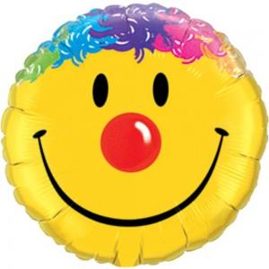 """18"""" Foil Smile Face (pkgd.) , *QF18RI26046"""