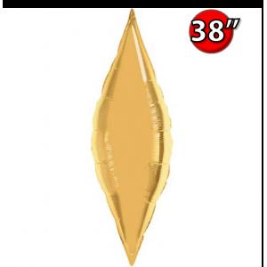 """Taper 38"""" Metallic Gold , QF38SP16335 <Helium #C>"""