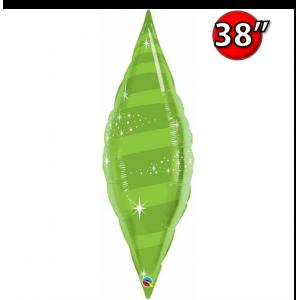 "Taper Swirl 38"" Lime Green , QF38SP22825 <Helium #C>"