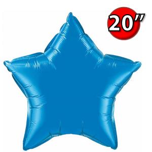 """Foil Star 20"""" Sapphire Blue (Non-Pkgd.), QF20SP12624 (0) <10 Pcs/包>"""