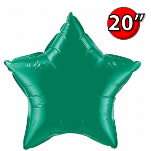 """Foil Star 20"""" Emerald Green (Non-Pkgd.), QF20SP12625 (0) <10 Pcs/包>"""