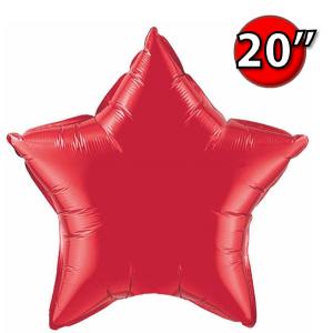 """Foil Star 20"""" Ruby Red (Non-Pkgd.), QF20SP12626 (0) <10 Pcs/包>"""