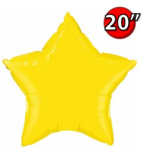 """Foil Star 20"""" Citrine Yellow (Non-Pkgd.), QF20SP12631 (0) <10 Pcs/包>"""