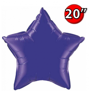 "Star 20"" 星形 Quartz Purple , QF20SP12645 <Helium #B>"