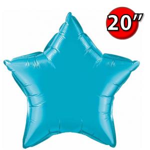 """Foil Star 20"""" Turquoise (Non-Pkgd.), QF20SP24819 (0) <10 Pcs/包>"""