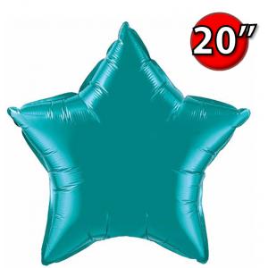 """Foil Star 20"""" Teal (Non-Pkgd.), QF20SP36576 (0) <10 Pcs/包>"""