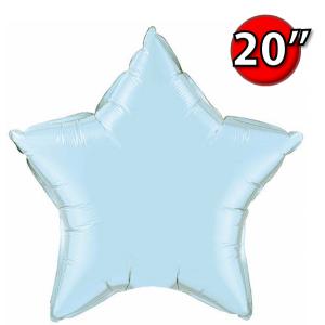 """Foil Star 20"""" Pearl Light Blue (Non-Pkgd.), QF20SP54802 (0) <10 Pcs/包>"""