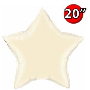 """Foil Star 20"""" Pearl Ivory (Non-Pkgd.), QF20SP54806 (0) <10 Pcs/包>"""
