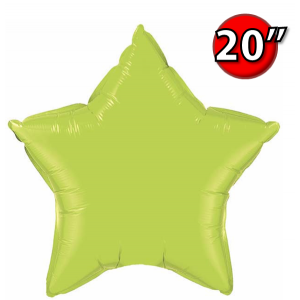 "Star 20"" 星形 Lime Green , *QF20SP76231 <Helium #B>"