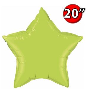 """Foil Star 20"""" Lime Green (Non-Pkgd.), QF20SP76231 (0) <10 Pcs/包>"""