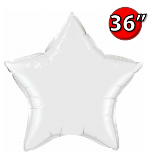 "Star 36"" 星形 White , *QF36SP12348 <Helium #D>"