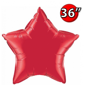 "Star 36"" 星形 Ruby Red , *QF36SP12605 <Helium #D>"