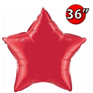 """Foil Star 36"""" Ruby Red (Non-Pkgd.), QF36SP12605 (0) <10 Pcs/包>"""