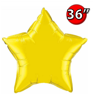 "Star 36"" 星形 Citrine Yellow , *QF36SP22378 <Helium #D>"