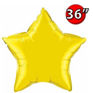"""Foil Star 36"""" Citrine Yellow (Non-Pkgd.), QF36SP22378 (0) <10 Pcs/包>"""