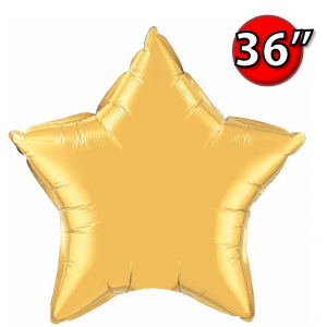 "Star 36"" 星形 Metallic Gold , QF36SP36498 <Helium #D>"