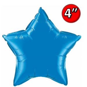 """Foil Star 4"""" Sapphire Blue / Air-Fill (non-pkgd.), QF04SP22849 (0) <10 個/包>"""
