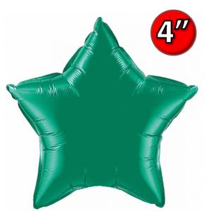 "Foil Star 4"" Emerald Green / Air-Fill (non-pkgd.), QF04SP22850 (0) <10 個/包>"