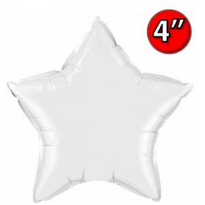 "Foil Star 4"" White / Air Fill (Non-Pkgd.), QF04SP22855 (0) <10 Pcs/包>"