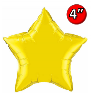 "Star  4"" 星形 Citrine Yellow , *QF04SP22882 <Air #A>"