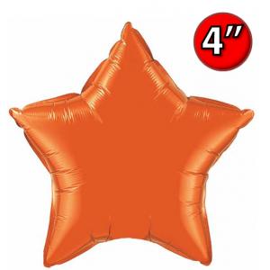 "Foil Star 4"" Orange / Air Fill (Non-Pkgd.), QF04SP24690 (0) <10 Pcs/包>"