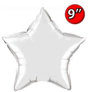 "Foil Star 9"" Silver / Air Fill (Non-Pkgd.), QF09SP22466 (0) <10 Pcs/包>"