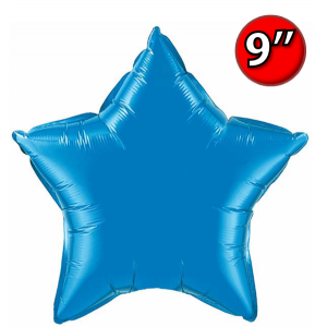 "Foil Star 9"" Sapphire Blue / Air Fill (Non-Pkgd.), QF09SP24131 (0) <10 Pcs/包>"