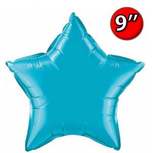 "Star  9"" Foil Star 9"" Turquoise / Air Fill (Non-Pkgd.), QF09SP24818 (0) <10 Pcs/包>"